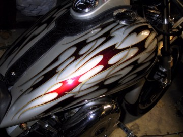 1978 Harley davidson with custom painted tribal flames